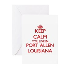 Keep calm you live in Port Allen Lo Greeting Cards