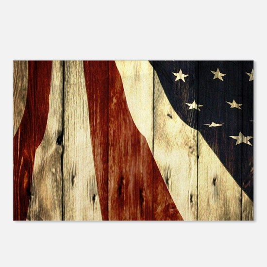 grunge USA flag American Postcards (Package of 8)
