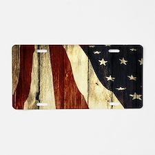 grunge USA flag American pa Aluminum License Plate