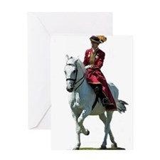Andalusian Sidesaddle Greeting Cards
