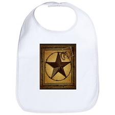 texas star horseshoe western Bib