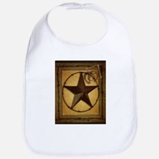 texas star horseshoe western Bib