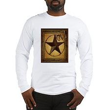 texas star horseshoe western Long Sleeve T-Shirt