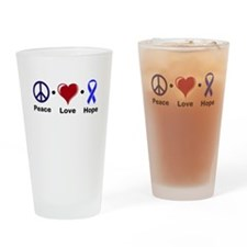 Peace, Love, and Hope Drinking Glass