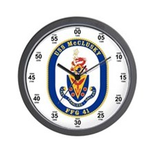 USS McClusky FFG-41 Wall Clock
