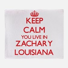 Keep calm you live in Zachary Louisi Throw Blanket