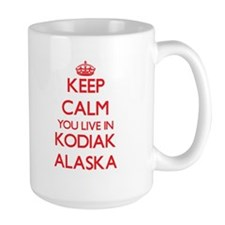 Keep calm you live in Kodiak Alaska Mugs
