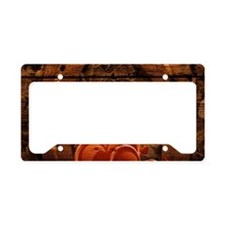 country love horseshoe woodgr License Plate Holder
