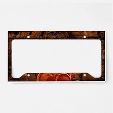 country love horseshoe woodgr License Plate Holder