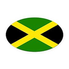 Jamaican Flag Oval Car Magnet