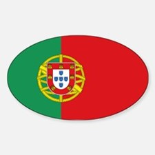 Portuguese flag Sticker (Oval)
