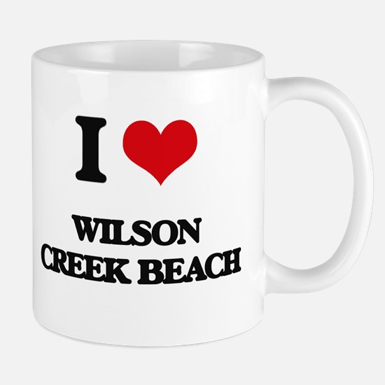 I Love Wilson Creek Beach Mugs