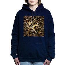 camouflage deer antler Women's Hooded Sweatshirt