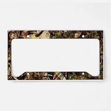 camouflage deer antler license plate holder