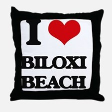 Cute Biloxi mississippi Throw Pillow