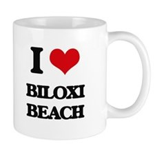 I Love Biloxi Beach Mugs