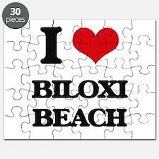 I Love Biloxi Beach Puzzle