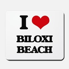 I Love Biloxi Beach Mousepad