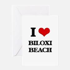 I Love Biloxi Beach Greeting Cards