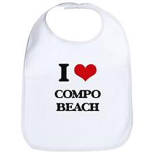 I Love Compo Beach Bib