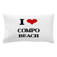 I Love Compo Beach Pillow Case