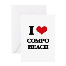 I Love Compo Beach Greeting Cards