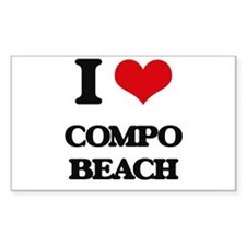 I Love Compo Beach Decal
