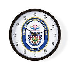 USS Monhomme Richard LHD-6 Wall Clock