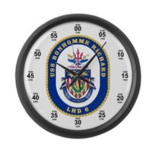 USS Monhomme Richard LHD-6 Large Wall Clock