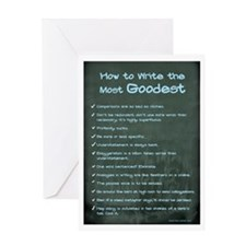 Write Most Goodest - Chalk Card Greeting Cards