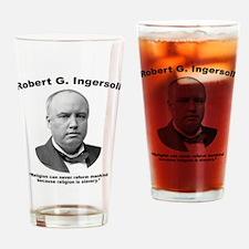 Ingersoll: Slavery Drinking Glass