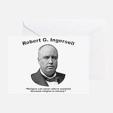 Ingersoll: Slavery Greeting Card