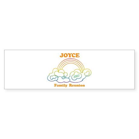 JOYCE reunion (rainbow) Bumper Sticker