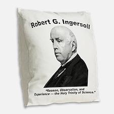 Ingersoll: Science Burlap Throw Pillow