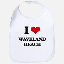 I Love Waveland Beach Bib