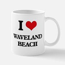 I Love Waveland Beach Mugs