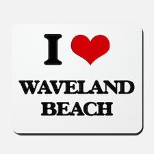I Love Waveland Beach Mousepad