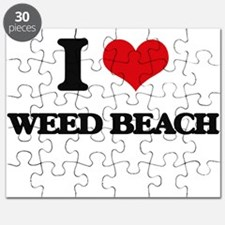 I Love Weed Beach Puzzle
