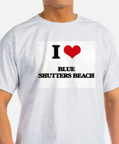 I Love Blue Shutters Beach T-Shirt
