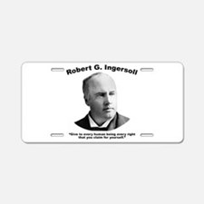 Ingersoll: Rights Aluminum License Plate