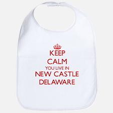 Keep calm you live in New Castle Delaware Bib