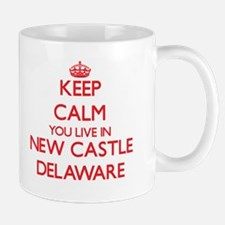 Keep calm you live in New Castle Delaware Mugs