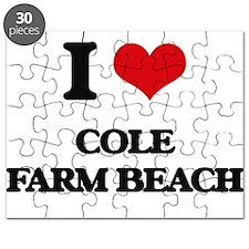 I Love Cole Farm Beach Puzzle