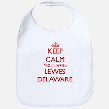 Keep calm you live in Lewes Delaware Bib
