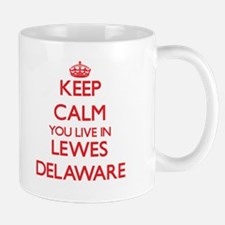Keep calm you live in Lewes Delaware Mugs