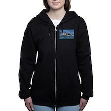 Baby Gray Whale Women's Zip Hoodie