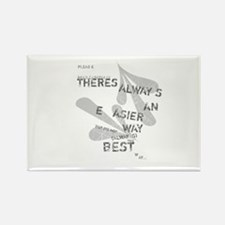 Funny Cool font Rectangle Magnet