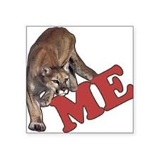 "Cool Cougar Square Sticker 3"" x 3"""
