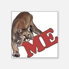 "Cute Cougar Square Sticker 3"" x 3"""