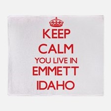 Keep calm you live in Emmett Idaho Throw Blanket